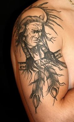 Many Native American tribes adorned themselves with traditional Native American tattoos, some that were various tribal symbols and others had many different meanings among the Native American culture.