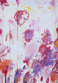 Cy Twombly- peonies