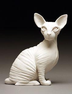 Kitten 2012  porcelain  by Bethany Krull