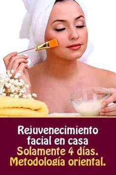 Rejuvenecimiento facial en casa. Solamente 4 días. Metodología oriental.