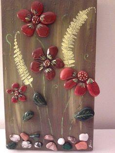 Stone Crafts, Rock Crafts, Diy And Crafts, Kids Crafts, Arts And Crafts, Pebble Stone, Pebble Art, Stone Art, Rock Flowers