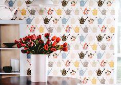 Tapeten Für Küche   23 Frische Ideen   Esszimmer, Innendesign | Tapeten Für  Küche, Bunte Tapeten Und Tapeten