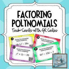 Resultado de imagen de factoring polynomials cartoon