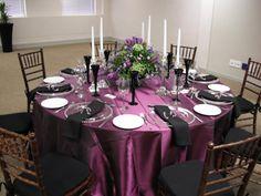 Black and purple  Wedding Decor
