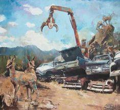 Original Landscape Painting by Janusz Orzechowski Original Art, Original Paintings, Buy Art, Oil On Canvas, Camel, Saatchi Art, Scrap, Fine Art, Desert Sun