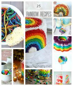 25 St Patricks day Rainbow recipes #rainbow_recipes