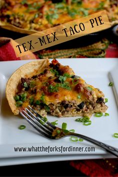 Tex-Mex Taco Pie - Tex Mex at it's best, a little like a casserole, little like quiche, with a whole lot of Tex-Mex flavor. Quick & easy!!