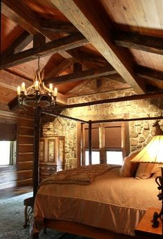 Like the stonework and the heavy timbers. Gives fine  rustic look