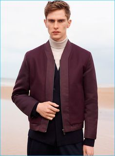 Hagora Mens Purple And White Thin Lines Everyday Stylish Woven Silk Skinny Tie