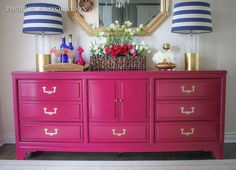 American of Martinsville Campaign Credenza :: Hometalk  Cate's room/dresser (how this piece was painted)