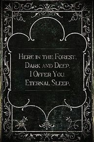 here in the forest...