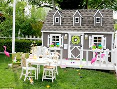 Attention to detail: Jannicke Ramsø, founder of children's design company Tiny Little Pads...    Adorable Playhouse. Playhouse Inspo. Playhouse Interiors. Playhouse Ideas.