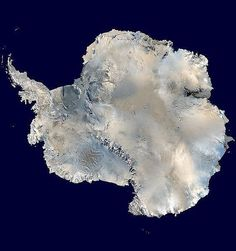 Antarctica as seen from space, rare full view of the seventh continent.