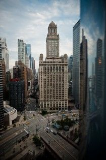 Busy New York streets and architecture