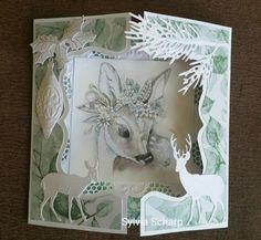 Winterkaart gemaakt met het mooie plaatje van Els Wezenbeek. Allerlei mallen van Marianne Design bij elkaar gezocht. Dit zijn...