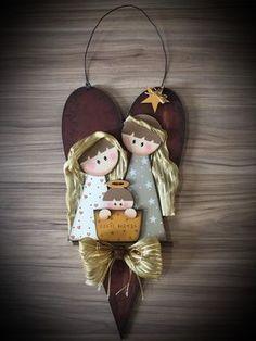 Wooden Christmas Tree Decorations, Christmas Wood Crafts, Christmas Nativity, Diy Christmas Ornaments, Christmas Projects, Kids Christmas, Holiday Crafts, Nativity Ornaments, Nativity Crafts