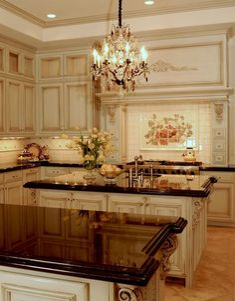 Beautiful Country Spanish Kitchen design ideas and decor Country Kitchen Cabinets, Country Kitchen Designs, French Country Kitchens, French Kitchen, French Country Decorating, Country French, Country Bathrooms, Chic Bathrooms, Kitchen Sinks