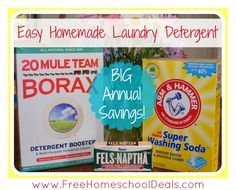 How to Make Easy Homemade Laundry Detergent | This recipe is SUPER easy and will save you HUNDREDS per year!
