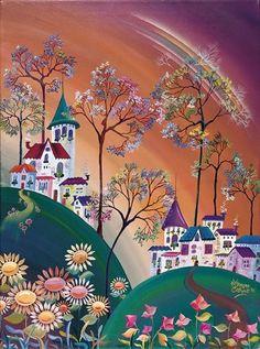 Pinturas mágicas - Arte con significado y mensajes ocultos Different Kinds Of Art, Desenho Tattoo, Arte Popular, Naive Art, Whimsical Art, Beautiful Paintings, Painting Inspiration, Folk Art, Watercolor Paintings