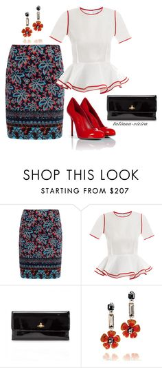 """""""062"""" by tatiana-vieira ❤ liked on Polyvore featuring Prabal Gurung, Vivienne Westwood Anglomania, Tory Burch and Sergio Rossi"""
