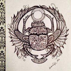 Zentangle Scarab by Alysha Lee