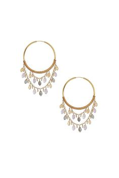Chan Luu Multi Stone Statement Hoops