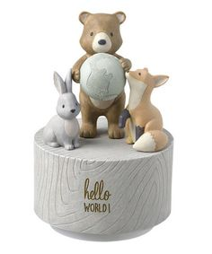 Another great find on #zulily! Forest Friends 'Hello World' Musical Rotation Figurine #zulilyfinds