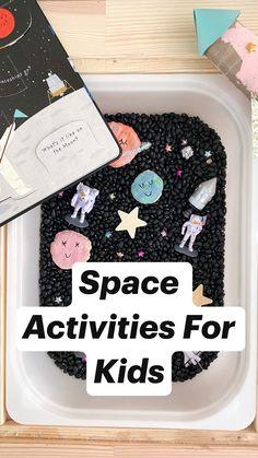 Sensory Activities For Preschoolers, Space Activities For Kids, Toddler Learning Activities, Infant Activities, Fun Activities, Kids Learning, Toddler Sensory Bins, Toddler Crafts, Sensory Play For Toddlers