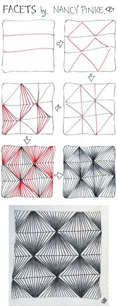 Перед вами очередные схемы пошагового рисования узоров, которые помогут Вам освоить Зентангл и обязательно пригодятся в будущем, когда будете заполнять плитку. Возможно, Вы прямо сейчас захотите взять в руки линер и плитку, вдохновившись узорами в статье,