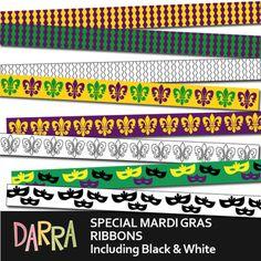 Free Mardi Gras Ribbons Clip Art