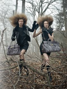 Campaign | Irina & Kasia for Mulberry Fall 2009 - Fashion Gone Rogue: The Latest in Editorials and Campaigns