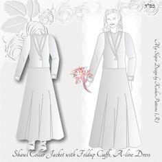 Tznius Wedding Shawl Collar Jacket