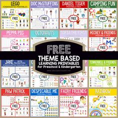 Theme Based Printables for Tot School, Preschool and Kindergarten. MANY FREE printables for early childhood! Preschool Learning, Preschool Activities, Preschool Curriculum, Very Hungry Caterpillar Printables, Preschool Printables, Tot School, Color Activities, Mickey And Friends, Kindergarten Teachers