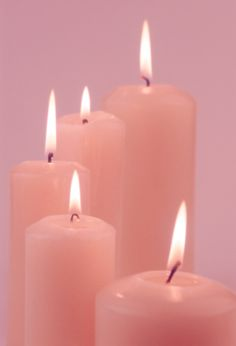 Pink candles -- used for love, friendships, honor, fidelity, femininity, self-love, and harmony
