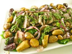 ChowGals: Grilled Steak Salad with Chimichurri Dressing