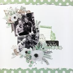 Mint Wishes Collection. Scrapbook Journal, Scrapbook Sketches, Scrapbooking Layouts, Scrapbook Paper, Smash Book Pages, Specialty Paper, Christmas Scrapbook, Photo Layouts, Christmas Wishes