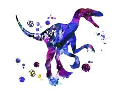 Velociraptor Print Digital print Instant Download by MimiPrints