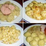 Chlupaté knedlíky: Tentokrát v parním hrnci nebo s přídavkem celozrnné mouky Potato Salad, Potatoes, Meat, Chicken, Ethnic Recipes, Food, Potato, Essen, Meals