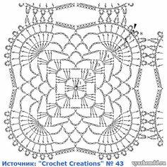 Crochet Bird Patterns, Crochet Baby Blanket Free Pattern, Crochet Doily Diagram, Crochet Bedspread, Crochet Chart, Thread Crochet, Crochet Motif, Crochet Squares, Crochet Granny Square Beginner