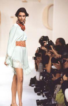 Spring/Summer 1991 Kid Capri, Reggie Watts, Fashion Models, Fashion Show, Lace Skirt, Sequin Skirt, African Beauty, Contemporary Fashion, Valentino Garavani