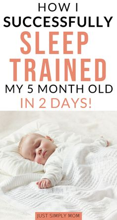 Sleep training can be the ultimate sanity-saving experience for a new mom. Get your baby sleeping through the night, or at least longer stretches day and night, with this simple method. It worked for us with a 5 month old baby and it can work for you too. 5 Month Old Sleep, 2 Month Old Baby, New Month, Baby Schlafplan, Get Baby, Gentle Sleep Training, Sleep Training Methods, Potty Training, Getting Baby To Sleep