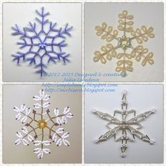 Different beaded snowflakes