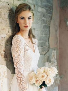 Laguna Long Sleeve Lace Bridal Top - Bridal Separates - Custom made wedding dress by Lace & Liberty