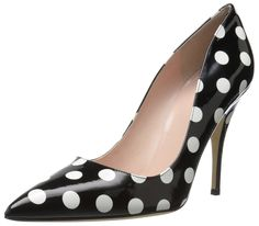 kate spade new york Women's Licorice Pump. Pointed-toe pump with leather outsole and logo-embossed footbed.