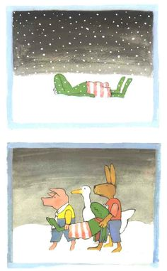* Praatplaten: Kikker in de kou! 7-9 Kitty Crowther, Winter Project, Children's Book Illustration, School Supplies, Childrens Books, Crafts For Kids, Kids Rugs, Teaching, Projects
