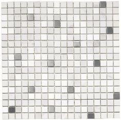 Malla Casablanca #revestimientos #baños #cocinas #mosaicos #mallas #venecitas #mármol #acero #blanco #diseño #tendencia #decoración Encontralo en nuestra tienda!!