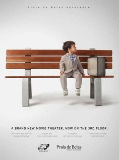 Praia de Belas Shopping - To promote its newly opened movie theater on the mall's third floor, the Praia de Belas Shopping ad campaign has been adorably put together. ...