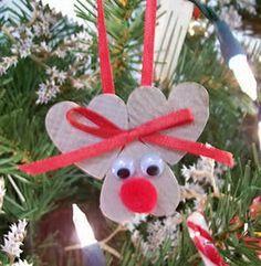 658da11fd Homemade reindeer ornament! Remeslá Pre Deti, Remeslá, Výroba Vianočných  Predmetov, Ornamenty,