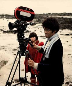 """auteurstearoom: """"Yasmin Paige and Director Richard Ayoade on location during the making of Submarine. Submarine 2010, Submarine Movie, Richard Ayoade, Vsco, Women In History, British History, Ancient History, American History, Native American"""