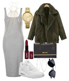 """Just a Regular Ol' Day"" by emma632roxx ❤ liked on Polyvore featuring Michael Kors, Topshop, NIKE, River Island, Prada, Oasis and NYX"